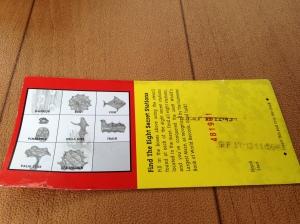 My maze scavenger hunt card