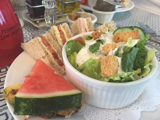 Salad W/ Tea Sandwiches